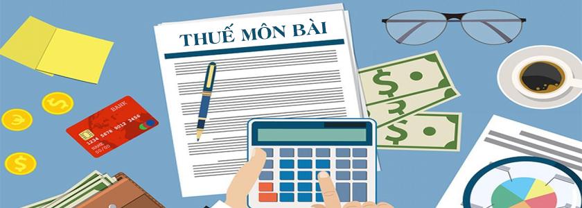 Kết quả hình ảnh cho thuế môn bài