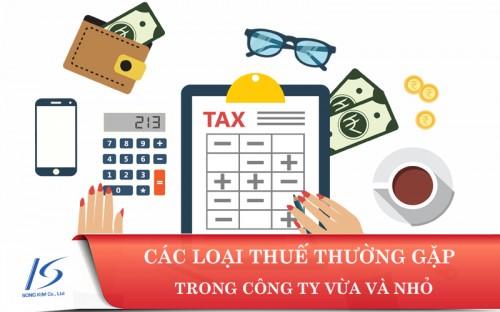 Các loại thuế doanh nghiệp phải nộp mới nhất – Cập nhật T01/2019