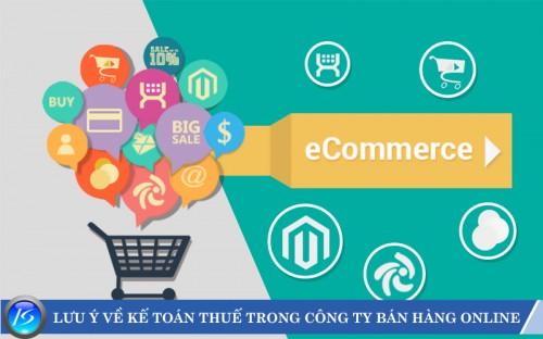 Các vấn đề thường gặp về kế toán thuế trong công ty bán hàng online