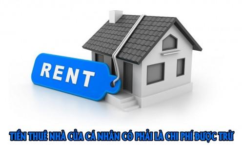 Chi phí thuê nhà của cá nhân làm văn phòng phải xử lý ra sao?