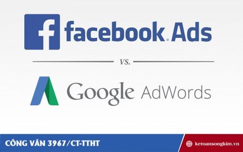 Công văn 3967/CT-TTHT về chính sách thuế đối với việc quảng cáo trên Google