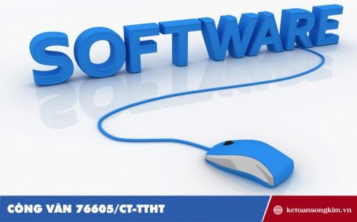 Công văn 76605/CT-TTHT về việc xuất hóa đơn khi xuất khẩu phần mềm