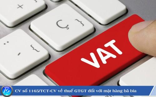 Công văn số 1165/TCT-CS về thuế GTGT đối với mặt hàng bã đậu làm thức ăn chăn nuôi